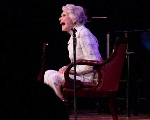 <p>Carol Channing basks in the audience&#39&#x3B;s love onstage at The Town Hall.</p><br />(© David Gordon)