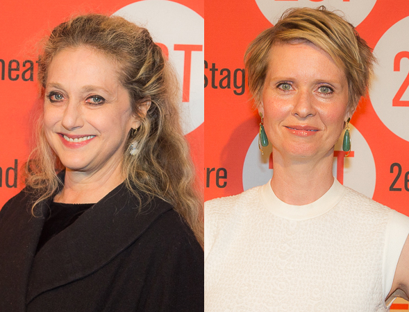 <p>Carol Kane and Cynthia Nixon are proud fans of Second Stage.</p><br />(© Seth Walters)
