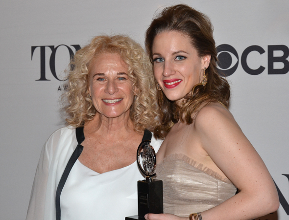 <p>Carole King poses with Jessie Mueller, who won a Tony for her performance as King in <em>Beautiful — The Carole King Musical</em>.</p><br />(© David Gordon)