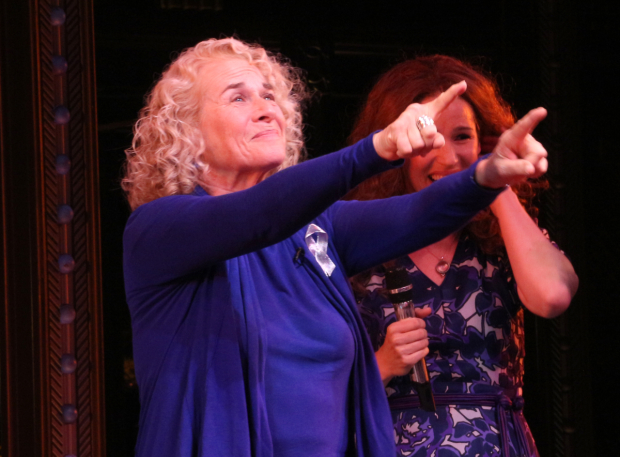 <p>Carole King takes the stage for a special curtain call.</p><br />(© David Gordon)