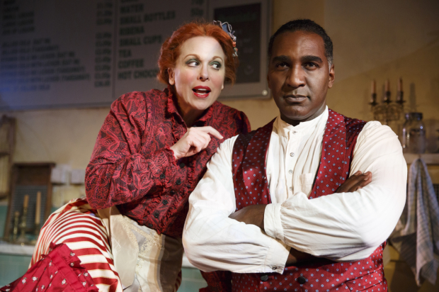 <p>Carolee Carmello in a scene with costar Norm Lewis.</p><br />(© Joan Marcus)