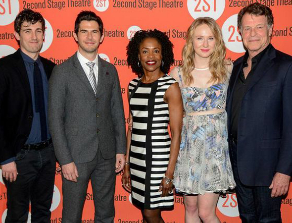 <p>Carter Hudson, Daniel Eric Gold, Charlayne Woodard, Halley Feiffer, and John Noble make up the cast of <em>The Substance of Fire</em>.</p><br />(© Nessie Nankivell)