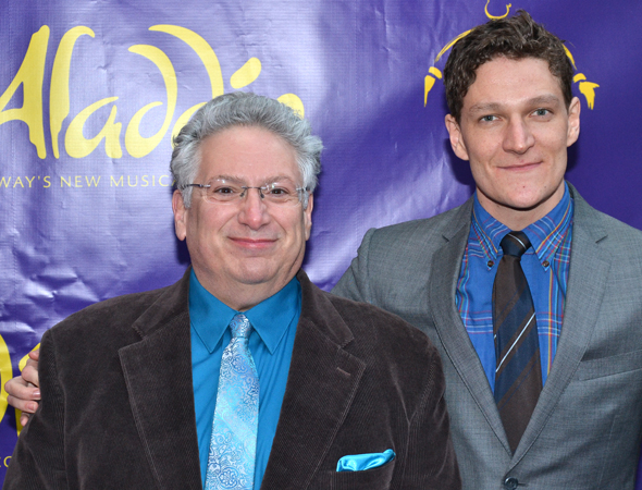 <p><em>Casa Valentina</em> playwright Harvey Fierstein brought his cast member Gabriel Ebert as his date.</p><br />(© David Gordon)