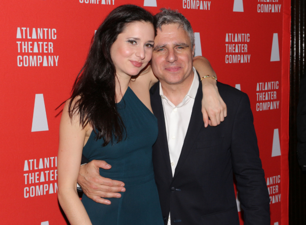 <p>Cast member Ariana Venturi joins Atlantic artistic director Neil Pepe for an opening-night snapshot.</p><br />(© David Gordon)