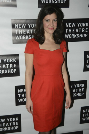<p>Cast member Zoë Winters smiles for the cameras on opening night.</p><br />(© Nessie Nankivell)