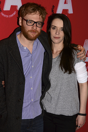 <p>Cast members Brian Gleeson and Caoilfhionn Dunne pose together on opening night. </p><br />(© Nessie Nankivell)