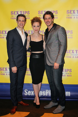 <p>Cast members Jason Michael Snow, Lindsay Nicole Chambers, and Andrew Brewer.</p><br />(© Stephanie Olsen)