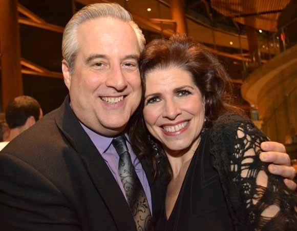 <p>Cast members Michael Russotto (Monsignor Ryan) and Tess Malis Kincaid (Christina Drayton) smile for the camera.</p><br />(Courtesy of Arena Stage)