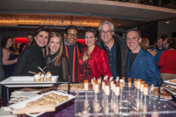 <p>Cast members of Arena Stage's upcoming <em>Guess Who's Coming to Dinner</em> (Tess Malis Kincaid, Bethany Anne Lind, Eugene Lee, Valerie Leonard, Michael Russotto, and Tom Key) show their support for the D.C. theater.</p><br />(© Cameron Whitman Photography)