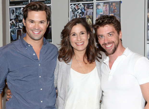 <p>Catch Andrew Rannells, Stephanie J. Block, and Christian Borle in <em>Falsettos</em>, beginning September 29 at the Walter Kerr Theatre.</p><br />(© David Gordon)