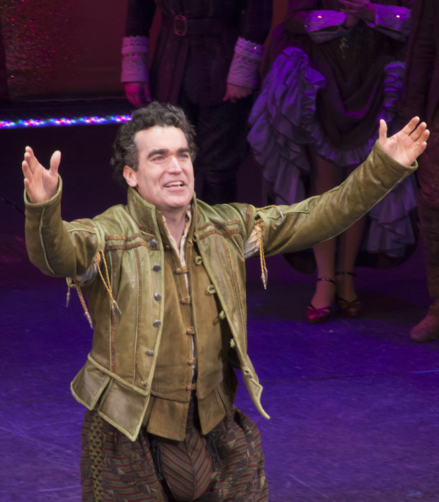 <p>Catch Brian d&#39&#x3B;Arcy James in <em>Something Rotten!</em> at the St. James Theatre!</p><br />(© David Gordon)