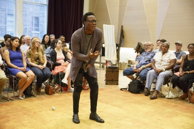 <p>Catch Chukwudi Iwuji in <em>Hamlet</em>!</p><br />(© Joan Marcus)