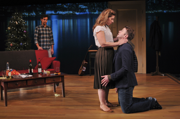 <p>Catch Matt Dellapina, Miriam Silverman, and Nick Westrate in <em>A Delicate Ship</em> at the Peter Jay Sharp Theater.</p><br />(© Jenny Anderson)
