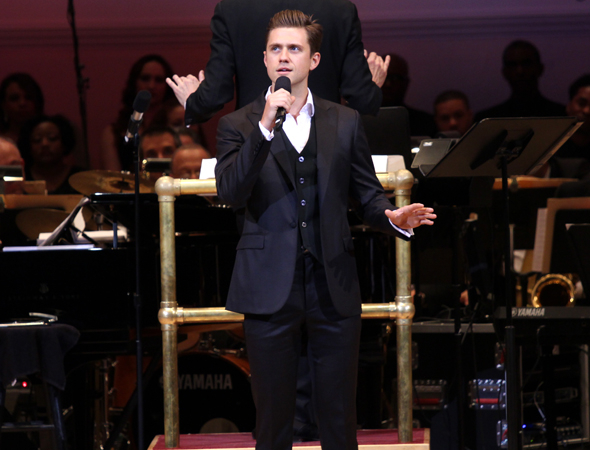 <p><em>Catch Me If You Can</em> star Aaron Tveit sings that show&#39&#x3B;s eleven o&#39&#x3B;clock number, &quot&#x3B;Goodbye.&quot&#x3B;</p><br />(© David Gordon)