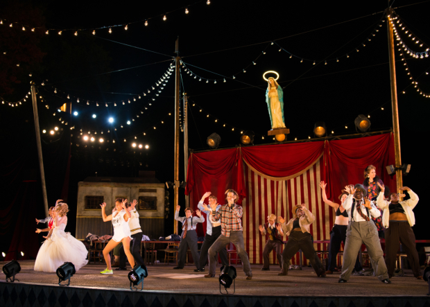 <p>Catch <em>The Taming of the Shrew</em> at the Delacorte Theatre.</p><br />(© Allison Stock)