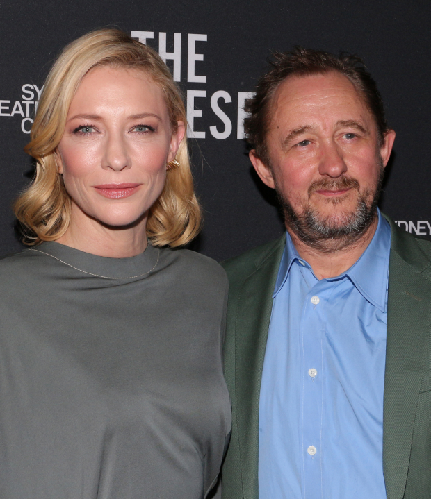 <p>Cate Blanchett poses with her husband, <em>The Present</em> playwright Andrew Upton.</p><br />(© David Gordon)