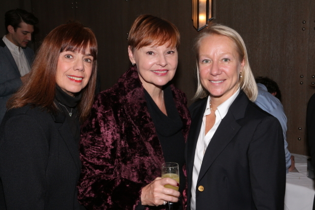 <p><em>Cats</em> alums Sally Ann Swarm, Linda Balgord, and Suzanne Viverito.</p><br />(© David Gordon)