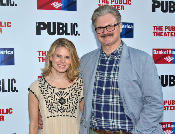<p>Celia Keenan-Bolger and John Ellison Conlee spend date night in Central Park.</p><br />(©  David Gordon)