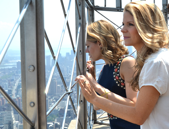 <p>Celia Keenan-Bolger and Kelli O&#39&#x3B;Hara check out the marvelous views of Manhattan.</p><br />(© David Gordon)