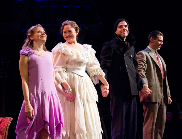 <p>Catch Celia Keenan-Bolger, Cherry Jones, Zachary Quinto, and Brian J. Smith in <em>The Glass Menagerie</em> at the Booth Theatre.</p><br />(© David Gordon)