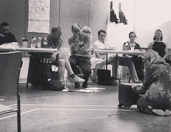 <p>Celia Keenan-Bolger rehearsing a scene as the delicate Laura Wingfield.</p><br />© (Photo via smithespis)