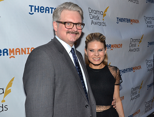 <p>Celia Keenan-Bolger, a nominee for <em>The Glass Menagerie</em>, with her husband, John Ellison Conlee.</p><br />(© David Gordon)