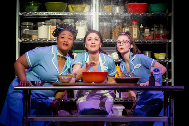 <p>Charity Angél Dawson, Sara Bareilles, and Caitlin Houlahan cook up magic in Broadway&#39&#x3B;s <em>Waitress</em>.</p><br />(© Jeremy Daniel)