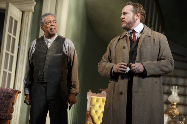 <p>Charles Turner as Cal opposite Darren Goldstein as Oscar Hubbard.</p><br />(© Joan Marcus)