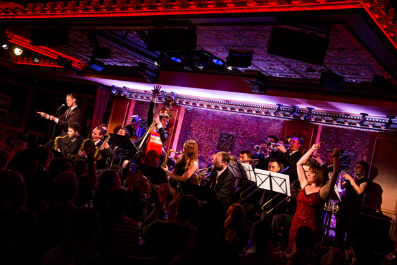 <p>Charlie Rosen&#39&#x3B;s Broadway Big Band and <em>&quot&#x3B;The Wild Party&quot&#x3B; Swings</em>&#39&#x3B; Andrew Lippa and Julia Murney come together onstage at 54 Below.</p><br />(© Matthew Murphy)