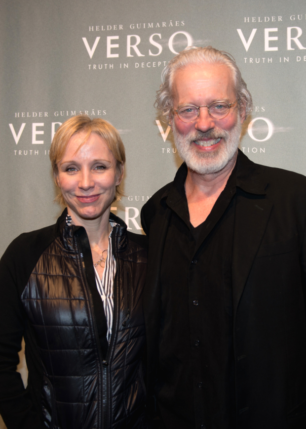 <p>Charlotte d&#39&#x3B;Amboise and Terrence Mann head into <em>Verso</em>.</p><br />(© Allison Stock)