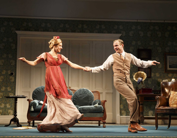 <p>Charlotte Parry dances with Zachary Booth, who plays Dickie Winslow.</p><br />(© Joan Marcus)