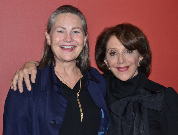 <p>Cherry Jones and Andrea Martin, winners of the Outstanding Lead and Featured Actress in a Play awards for <em>The Glass Menagerie</em> and <em>Act One</em>, respectively.</p><br />(© David Gordon)