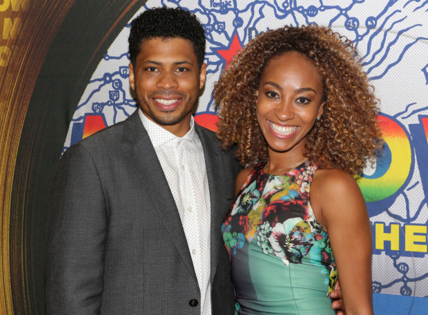 <p>Chester Gregory and Allison Semmes head the cast of <em>Motown The Musical</em> as Berry Gordy and Diana Ross.</p><br />(© David Gordon)