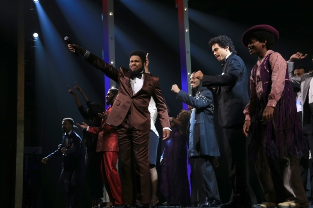 <p>Chester Gregory stars as Berry Gordy in <em>Motown</em>&#39&#x3B;s Broadway remounting.</p><br />(© Tricia Baron)