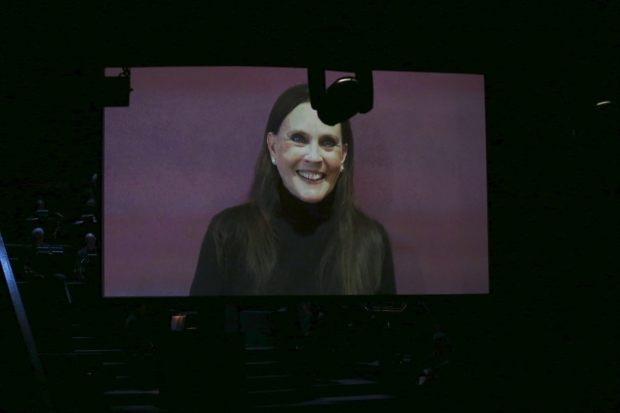 <p>Ann Reinking, <em>Chicago</em> choreographer and former Roxie Hart, was unable to attend, but she prepared a video to honor John Kander.</p><br />(© Tricia Baron)