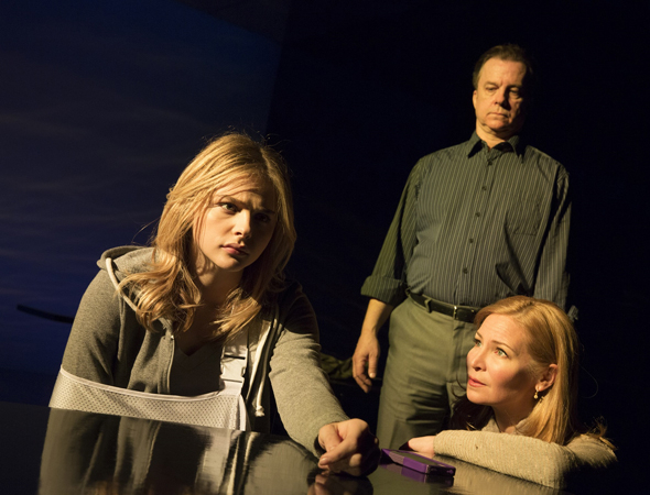 <p>Chloë Grace Moretz, Michael O&#39&#x3B;Keefe, and Jennifer Westfeldt take the stage at the Public Theater.</p><br />(© Joan Marcus)