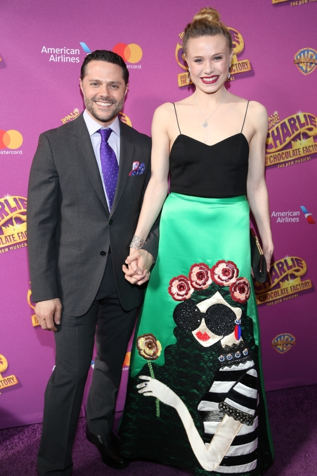 <p>Choreographer Joshua Bergasse arrives for the performance with his girlfriend, Sara Mearns.</p><br />(© Tricia Baron)