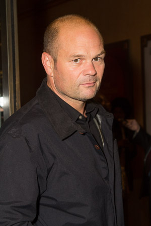 <p>Chris Bauer is ready for a night of theater.</p><br />(© Seth Walters)