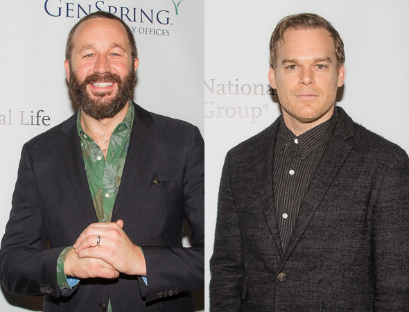 <p>Chris O&#39&#x3B;Dowd and Michael C. Hall, Distinguished Performance Award nominees for <em>Of Mice and Men</em> and <em>The Realistic Joneses</em>, respectively.</p><br />(© Seth Walters)