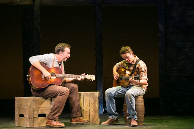 <p>Chris Roberts and Wyatt Rogers work on their six-string skills.</p><br />(© Those Morgans)