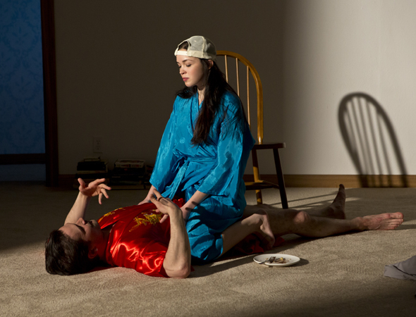 <p>Chris Stack and Zoë Sophia Garcia in <em>Your Mother&#39&#x3B;s Copy of the Kama Sutra</em>.</p><br />(© Jeremy Daniel)