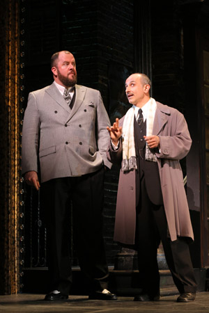 <p>Chris Sullivan (Polyte) and Stephen DeRosa (Police Inspector) share the stage.</p><br />(© Joan Marcus)