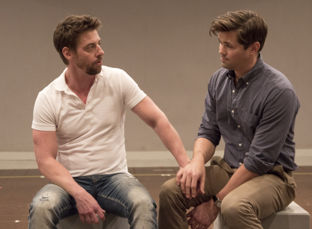 <p>Christian Borle and Andrew Rannells sing &quot&#x3B;Unlikely Lovers.&quot&#x3B;</p><br />(© David Gordon)