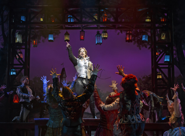 <p>Christian Borle and the cast of the new Broadway musical <em>Something Rotten!</em></p><br />(© Joan Marcus)