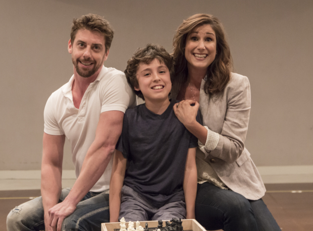 <p>Christian Borle, Anthony Rosenthal, and Stephanie J. Block perform &quot&#x3B;Everyone Tells Jason to See a Psychiatrist.&quot&#x3B;</p><br />(© David Gordon)