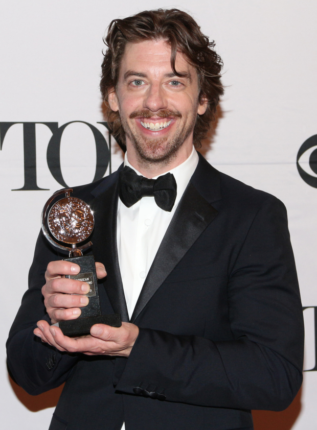 <p>Christian Borle — Best Featured Actor in a Musical, <em>Something Rotten!</em></p><br />(© David Gordon)