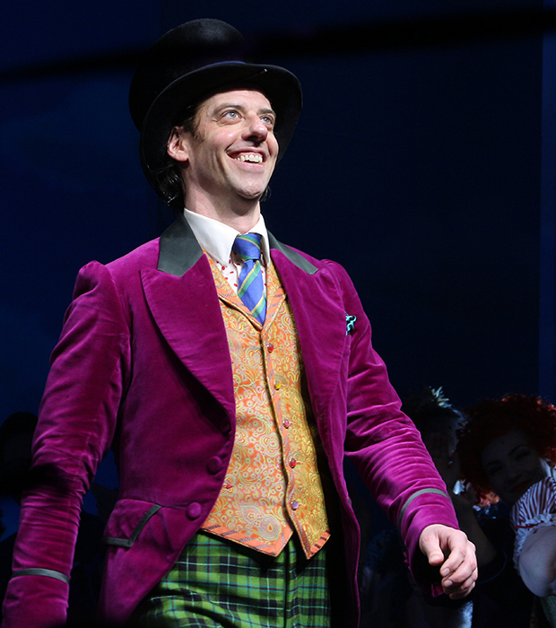 <p>Christian Borle comes out for his curtain call.</p><br />(© David Gordon)