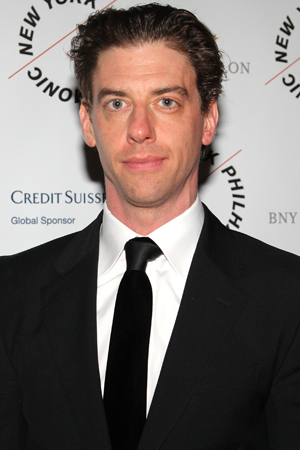 <p>Christian Borle heads into the afterparty.</p><br />(© David Gordon)