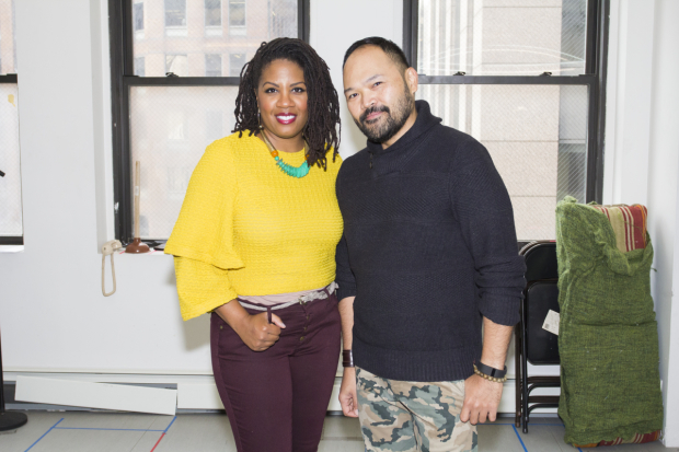 <p>Christina Anthony and Orville Mendoza also starred in <em>Found</em> at Atlantic Theater Company.</p><br />(© Seth Walters)