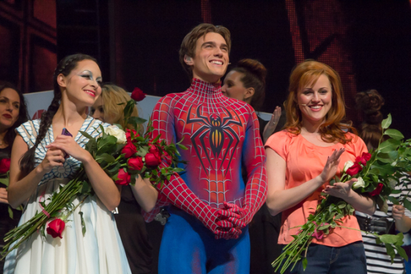 <p>Christina DeCicco, Justin Matthew Sargent, and Rebecca Faulkenberry say goodbye to Broadway. </p><br />(© Seth Walters)